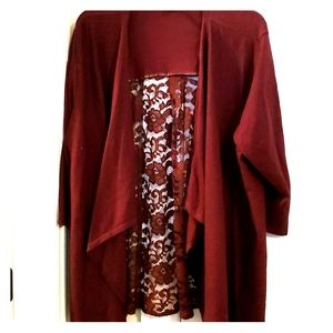 Burgandy Plus Size Lace 18/20